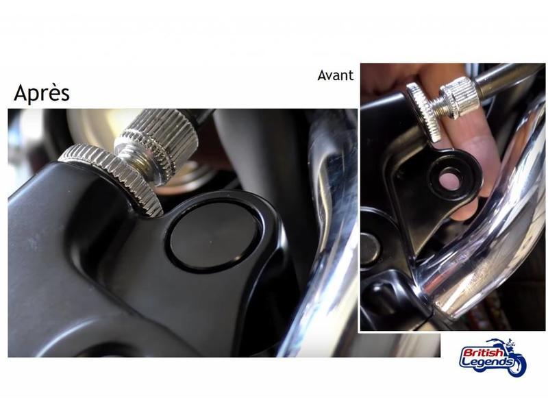 Motone Mirrors Plugs / Blanks for Triumph Twins