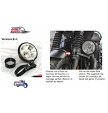 Free Spirits Phare Additionnel Kit Complet pour Triumph Twin