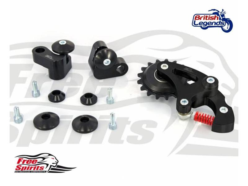 Free Spirits Riser Blocks + Chain Tensioner for Twins 900/1200cc