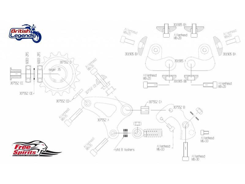 Free Spirits Kit pour Rehausser l'AR de votre Twins 900/1200cc