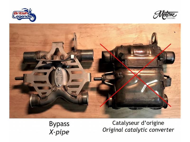 Motone Catalyst Converter Bypass for Twins 900/1200cc