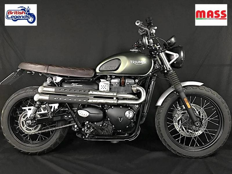 "MASS Moto ""Mohave"" Exhaust System for Triumph Street Scrambler"