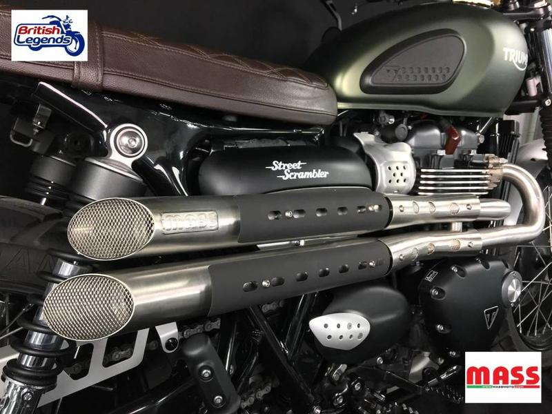 """MASS Moto """"Mohave"""" Exhaust System for Street Scrambler"""