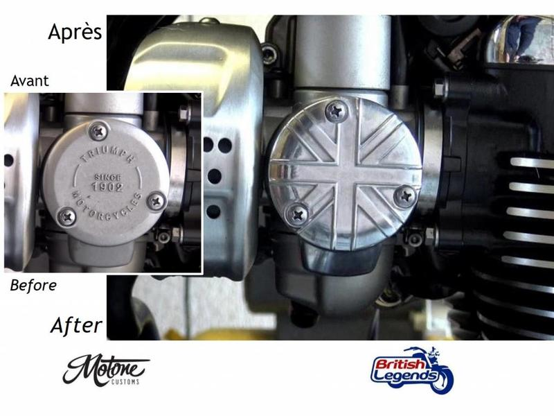 Motone Solid Aluminium Throttle-Body Covers