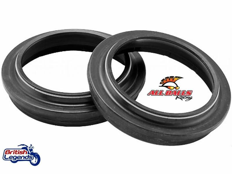 All Balls Set of Fork Oil + Dust Seals for Triumph motorbikes
