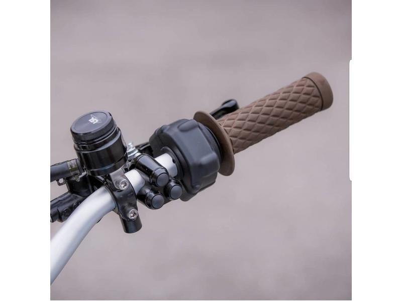 """""""Flat-Track"""" Handlebar Grips in Soft Rubber"""