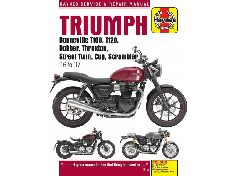 haynes repair manual for modern triumph motorcycles british legends rh britishlegends fr Triumph Bonneville Specs Triumph Bonneville Green