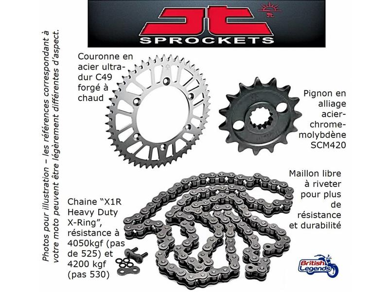 JT Sprockets Chain & Sprocket Kit for Triumph Twins 900cc