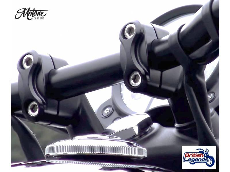 """""""Up & Over"""" Handlebar Risers for Triumph bikes"""