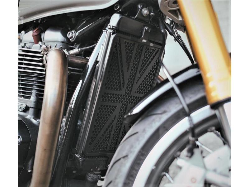 "Motone Radiator Stone Guard ""Union Jack"" for Triumph Twins"