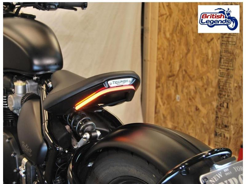 Tail Tidy with LED band for Triumph Bobber