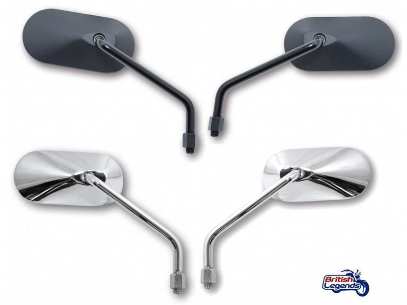 Aluminium Oblong Mirrors (most Triumph models)