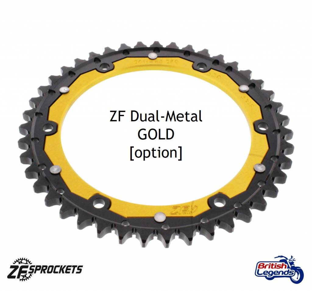 Triumph 955 Speed Triple 99-01 GOLD Heavy Duty X-Ring Chain and Sprocket Set Kit