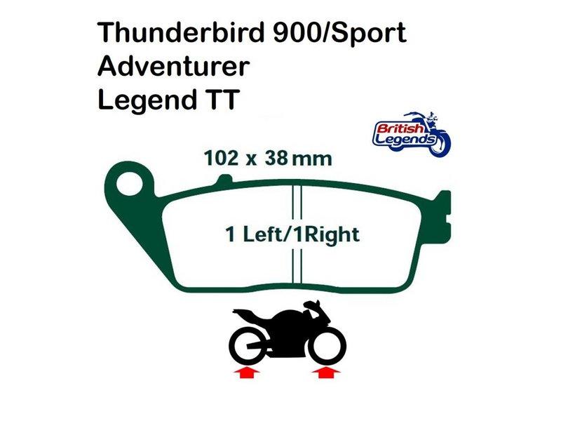 Ferodo Plaquettes Ferodo pour Triumph Adventurer 900