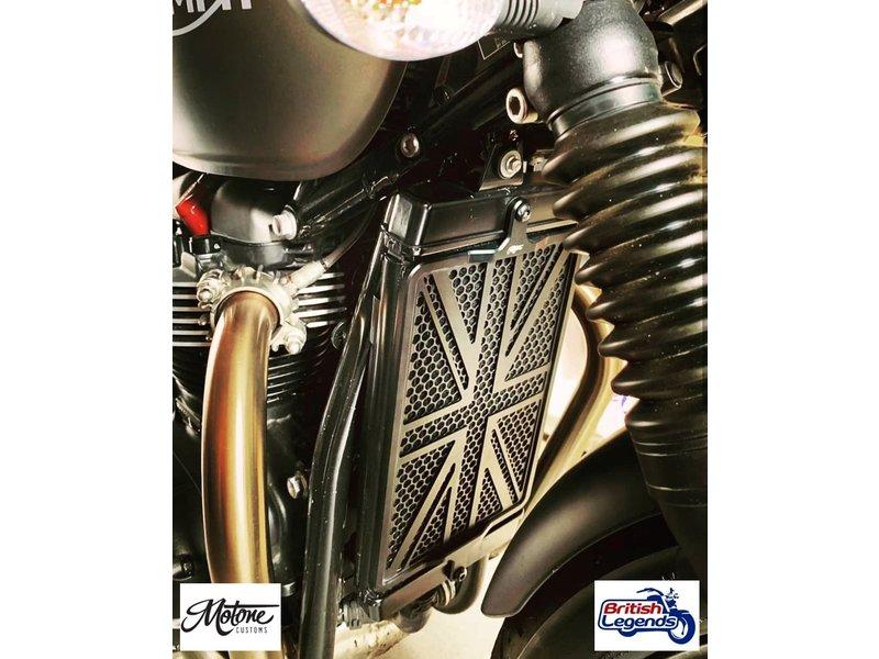 """Motone Grille de Radiateur """"Union Jack"""" pour Triumph Twins"""