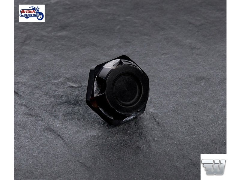 Wunderkind Black Aluminium Top Yoke Nut for Triumph Twins