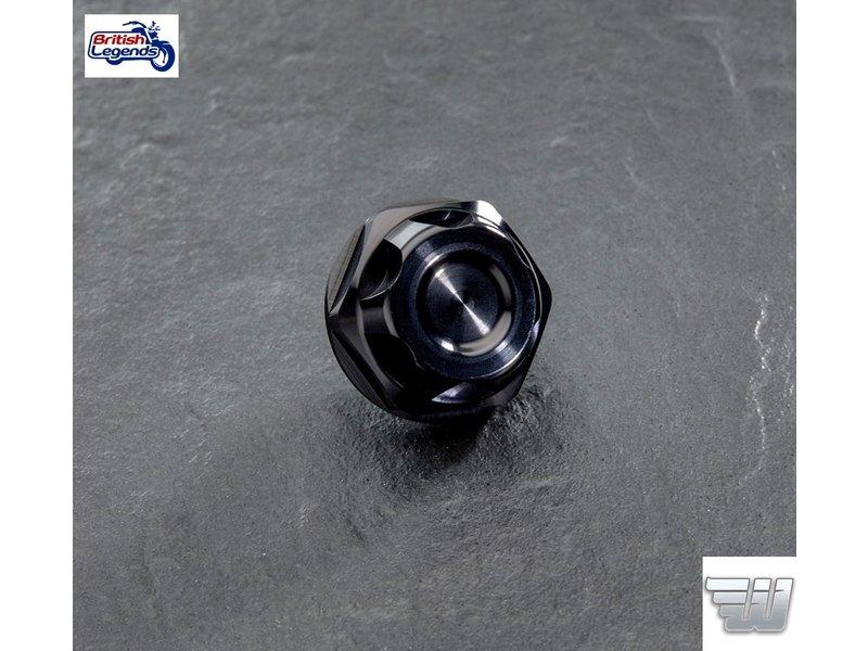 Wunderkind Black Aluminium Oil Filler Cap for Triumph Twins