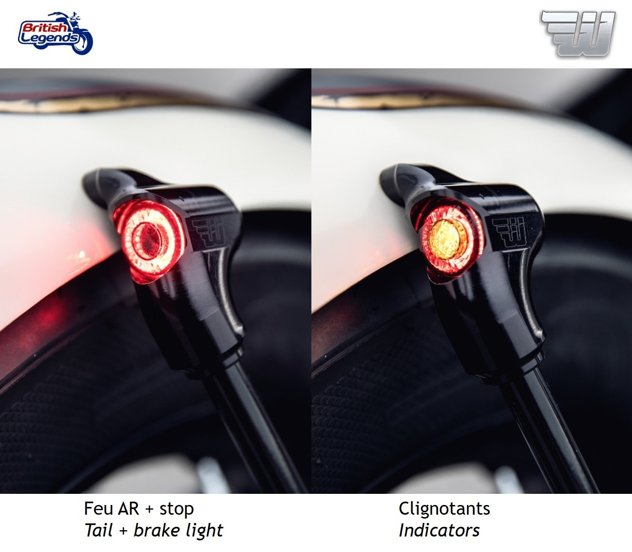 Triumph Bobber//Speedmaster Short Rear LED Indicators