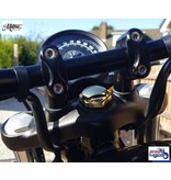 Motone Solid Brass Steering Stem Nut for Triumph Twins