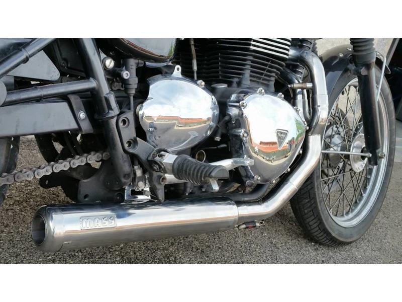"MASS Moto Ligne Inox ""Cross"" pour Bonneville/Thruxton"