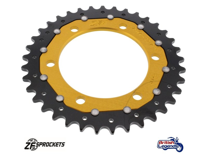 Dual-Metal Rear Sprocket, Gold Finish