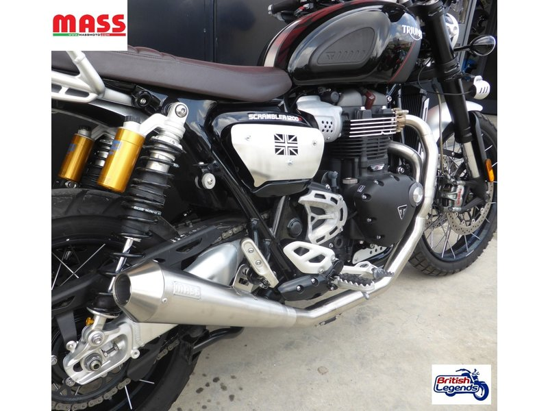 MASS Moto Stainless Full Exhaust System for Scrambler 1200
