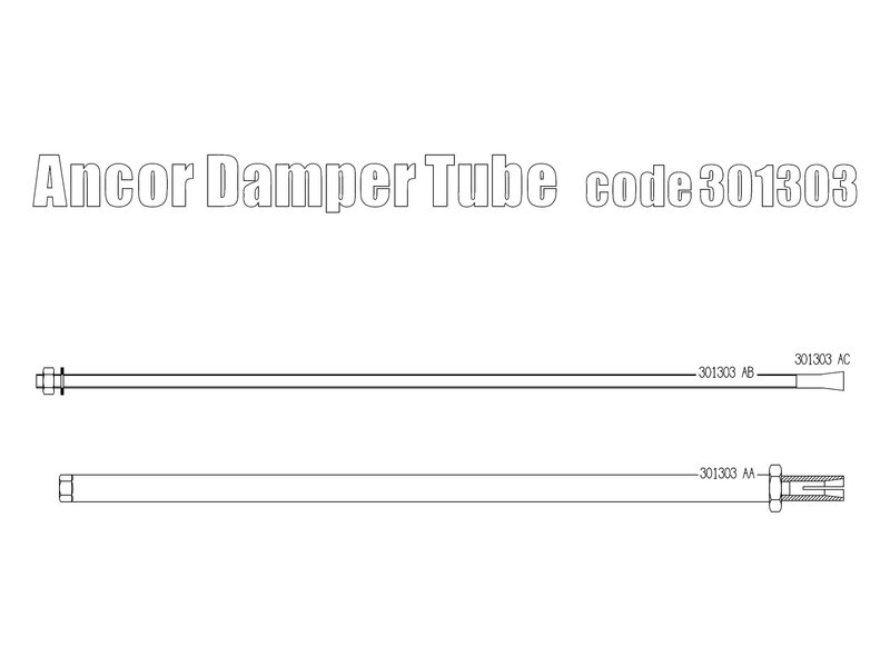 Free Spirits Anchor Damper Tube for Triumph Twins