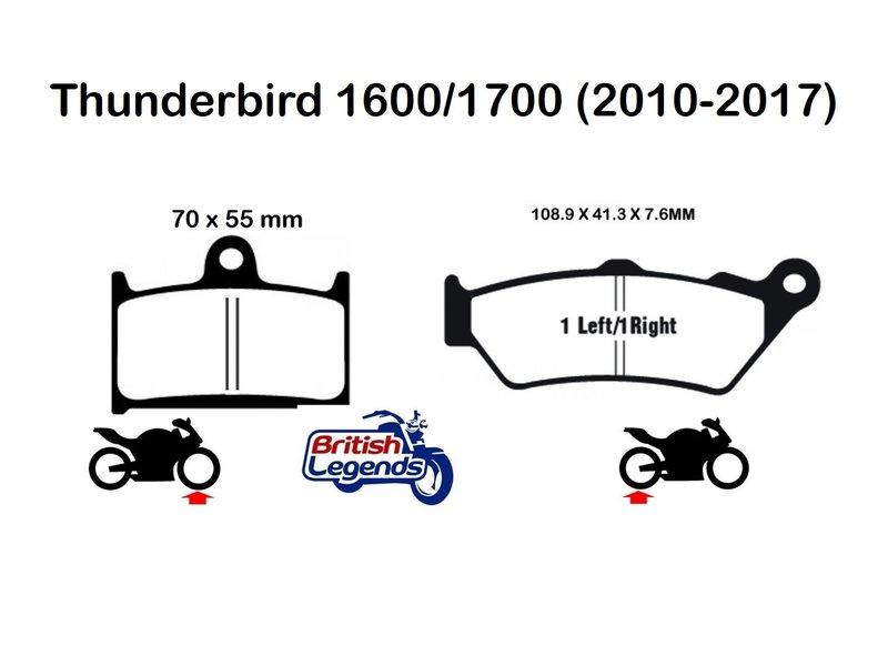 """EBC Plaquettes Sintérisées """"HH"""" Thunderbird 1600/1700"""