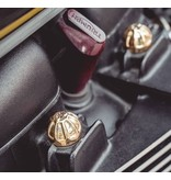 Motone Stud Covers in Solid Alloy/Brass for Triumph Twins