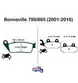 """EBC Plaquettes Sintérisées """"HH"""" Triumph Bonneville"""