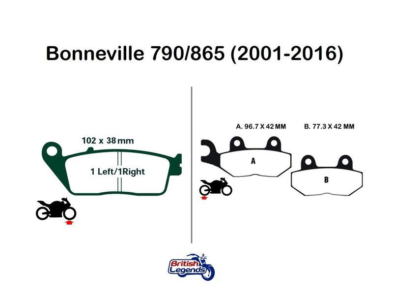 """EBC """"HH"""" Sintered Pads for Triumph Bonneville"""