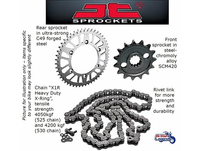 JT Sprockets Kit Chaîne JT-Sprockets pour Royal-Enfield 650cc