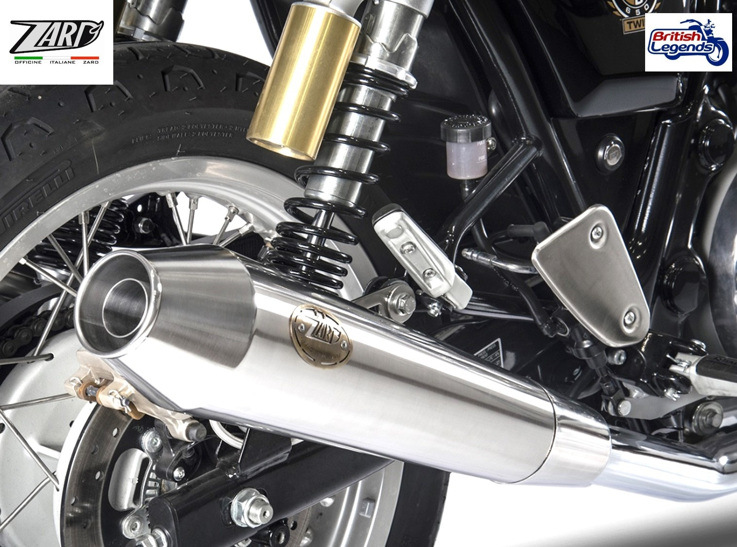 Zard Slip On Silencers For Royal Enfield Interceptor Continental 650 Triumph Parts