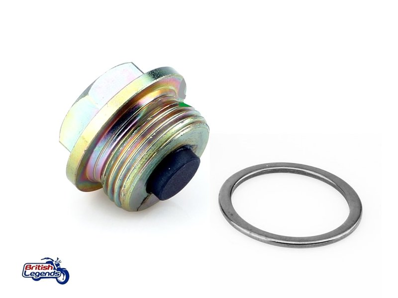 Oil Drain Plug + Seal (Triumph 885cc engine)