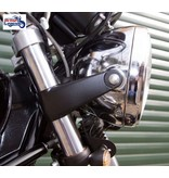 """Flat-Track"" Headlight Brackets for Triumph Twins"
