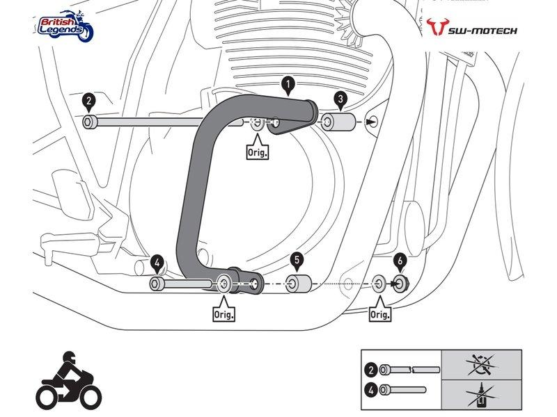 SW-Motech Barres de Protection pour Royal-Enfield 650cc