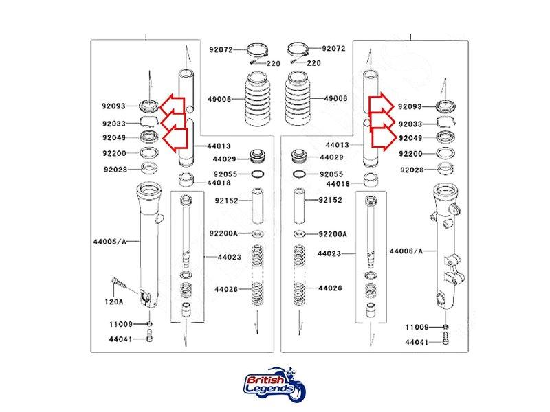 Kits de Joints de Fourche Kawa W650/W800