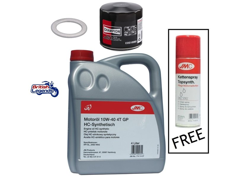 Oil-Change Kit for Royal-Enfield - Free Chain Spray!