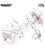 Tamarit Caches Latéraux Dakota  pour Triumph Thruxton