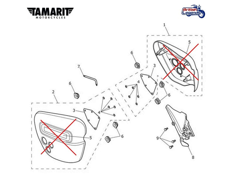 Tamarit Tamarit Side Panels for Thruxton and Speed Twin