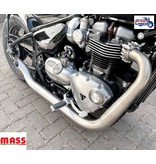 """MASS Moto Stainless Steel """"Hot Rod"""" Exhaust System"""