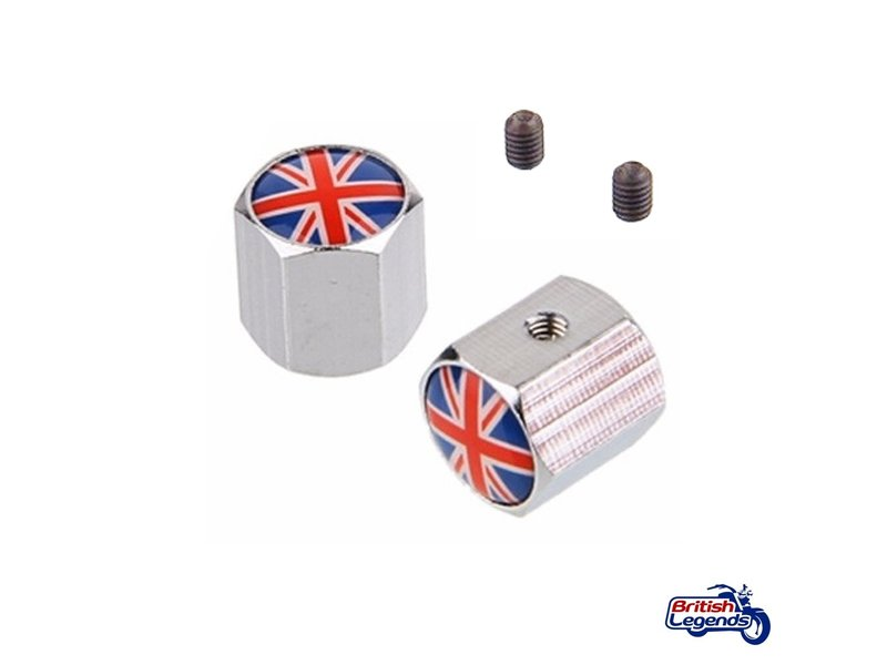 "Valve Caps ""Union Jack"" (per pair)"