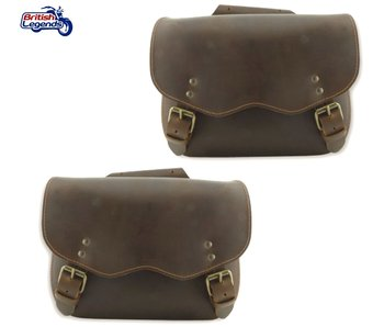 Buffalo Leather Saddlebags