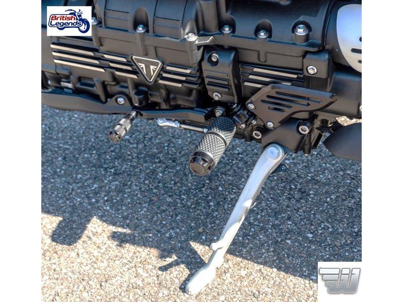 Wunderkind Black Foot Controls for Triumph Rocket 3 R