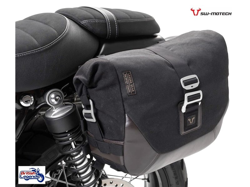 SW-Motech Canvas Saddle Bag with Fitting Kit (L or R side)