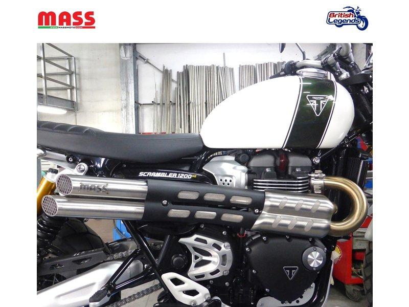 MASS Moto Silencieux Inox pour Triumph Scrambler 1200