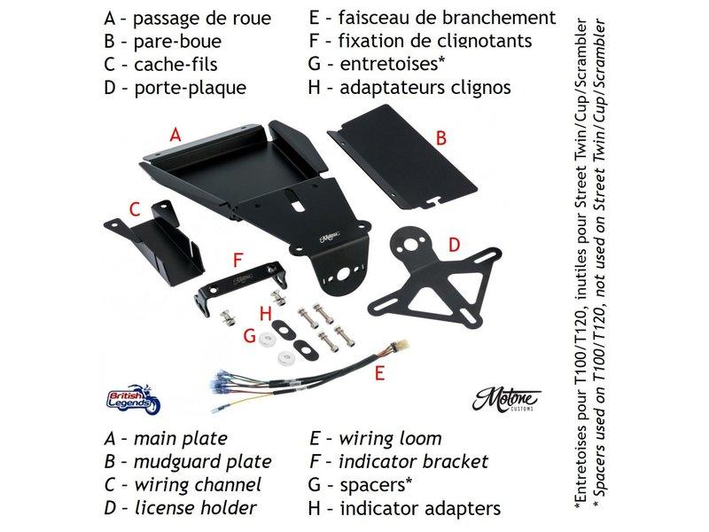 """Motone Kit """"Arrière Court"""" pour Triumph Twins"""