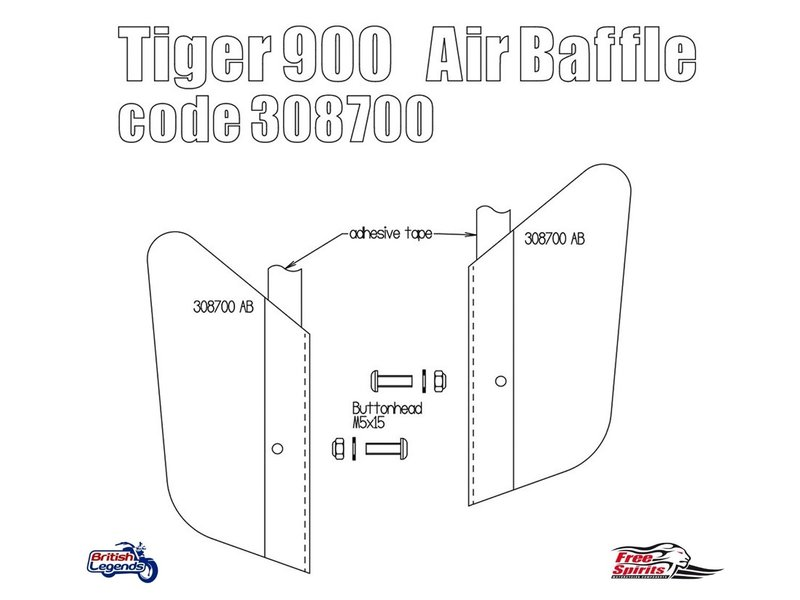 Free Spirits Déflecteurs d'Air Moteur pour Tiger 900