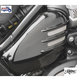 "Motone Ribbed ""Flat-Track"" Side Covers for Triumph Twins"