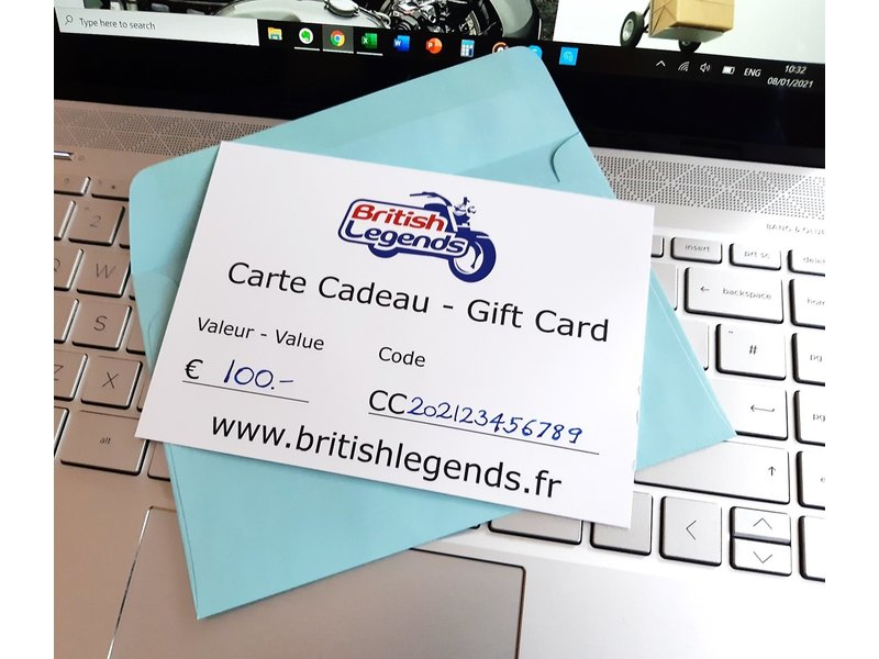 Carte Cadeau British Legends